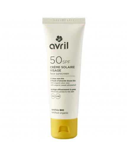 Avril Face sunscreen SPF 50 Certified organic, 50 ml